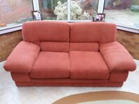 2 seater sofa with 4 solid wood stands and glides