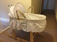 Beautiful new Moses basket and stand