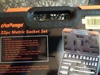challenge 22 pcs socket tool set (new)