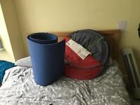 Selling pop up tent and single camping mat