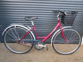 LADIS RALIEGH STEPTHROUGH DUTCH STYLE TOWN / SHOPPING BIKE IN EXCELLENT LITTLE USED CONDITION..