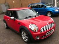 2007 MINI ONE 1.4 PETROL MANUAL NEWER SHAPE 3 DR HATCHBACK RED MOT CHEAP INSURANCE N 1 SERIES COOPER