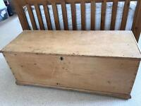 Antique pine blanket box