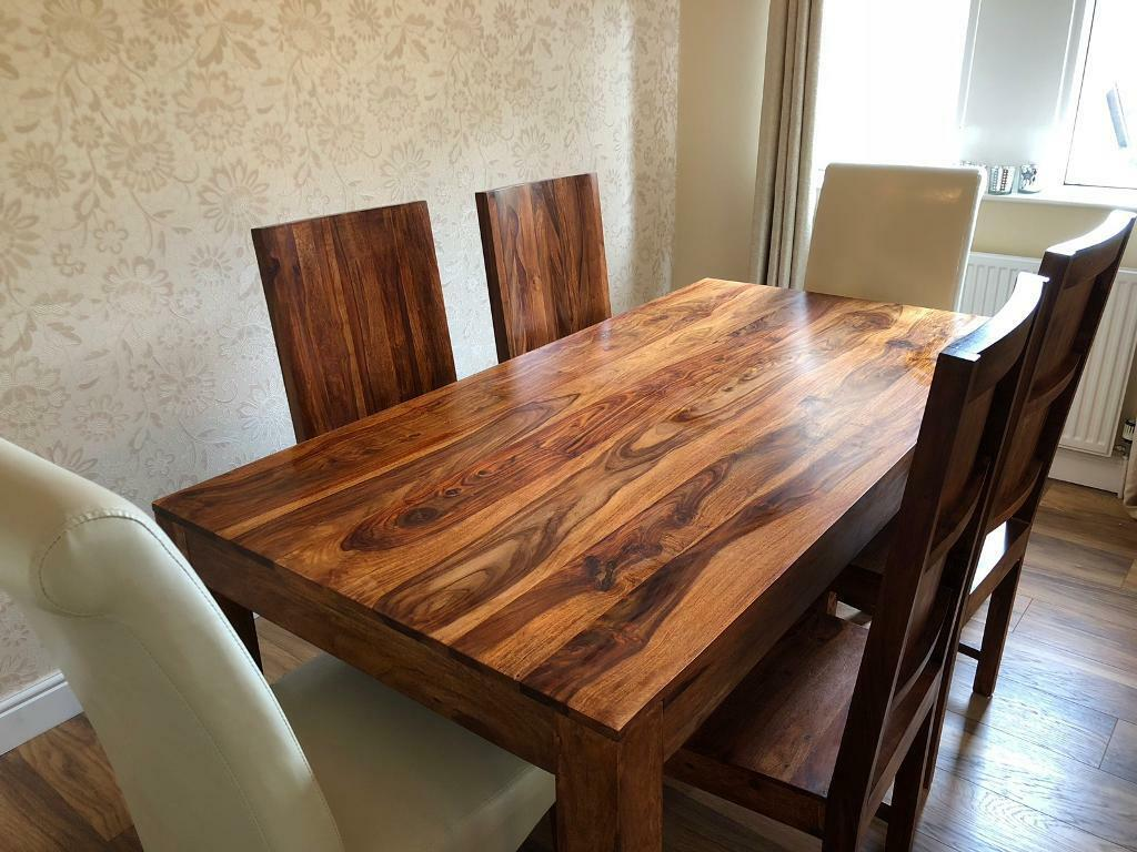 6ft Dining Table and 6 Chairs - 'The Living Room' Kerala | in East  Kilbride, Glasgow | Gumtree