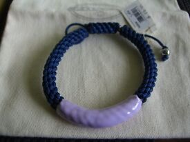 Fossil blue & Purple Braided Cord Bracelet new with tags & Box