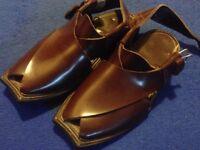 Handmade Leather Peshawari Chappal Pakistani Sandal Size UK 7
