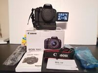 Boxed Canon EOS 700D with battery pack