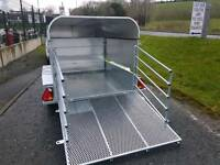 3 in 1 GALVANISED LIVESTOCK TRAILER HAS REMOVABLE ALUMINIUM SIDES RAMP & CANOPY