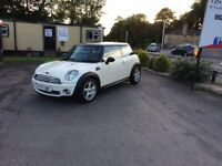 MINI COOPER 1.6 2007 WHITE MANUAL **EXCELLENT FIRST CAR**PRICED CHEAP**LOW MILEAGE**