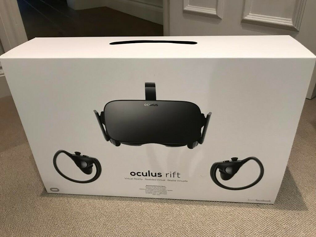 Oculus rift + touch controllers + sensors - full package - as new - used only twice