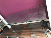 Stylish solid glass reception desk