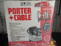 Finish Nail Guns and Compressor (Porter Cable like New in Box)