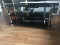 """43"""" TV stand in good condition. It has been well maintained - Black Gloss"""