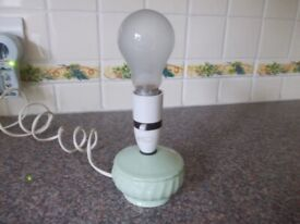 Small green table lamp very good condition