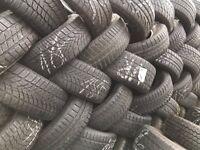 Part Worn Winter Tyres & All Weather 205/55/16, 215/225/235/245/255/40/45/50/60/65/17/18/19/20