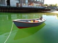 15ft Falmouth bass boat 4hp Yamaha and trailer