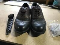 Golf shoes, bag , spare studs and brush