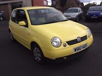 BARGAIN VW LUPO CHEAP TO RUN LOW MILES CHEAPER PX WELCOME