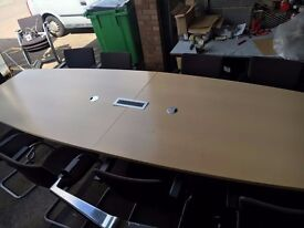 office furniture 3.6 meter maple boardroom table