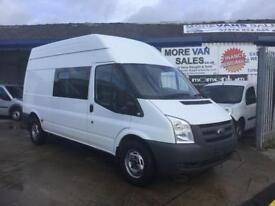 2010 1 owner ex MOD ford transit t350 9 seat crew van 2.4 tdci 135k fsh from new