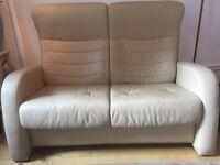 Gorgeous Italian leather two-seater sofa