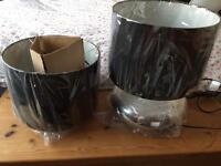 BRAND NEW black and chrome table lamps