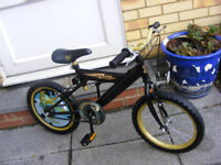 "BOYS HARRY POTTER 16"" WHEEL BIKE AGE 5+ HARDLY BEEN USED NO RUST"