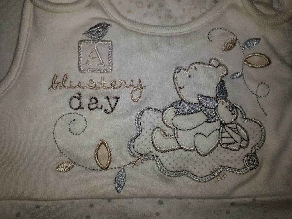 New Winnie the pooh 2.5tog sleeping bag 0-6 months and matching new blanket