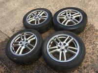 "Suburu 16"" wheels with tyres"