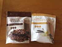 JUICE PLUS COMPLETE - CHOCOLATE (UNOPENED) AND VANILLA (1 SCOOP GONE) - Exp 03/17