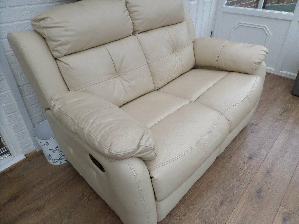 Sofa, leather two seat recliner