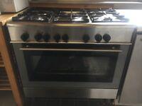 stainless steel Kenwood 90cm range cooker