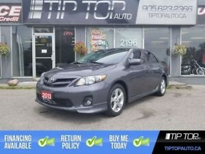 2013 Toyota Corolla S ** Accident Free, Manual, Sunroof, Bluetoo