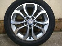 """17"""" GENUINE MERCEDES C CLASS (2016) ALLOY WHEEL TYRE FULL SIZE SPARE"""