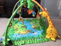 Jungle play mat/gym + extra toys (Lamaze)
