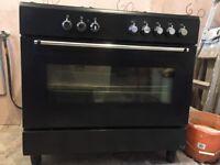 Dual Fuel Range Cooker - Black 5 Burner Hob