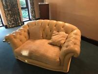 Chesterfield sofas cream £200 for the pair