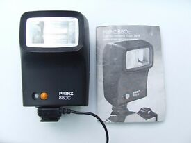 Prinz 880C Shoe Mount Flash. WITH INSTRUCTION BOOK