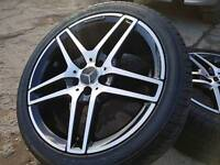 "Genuine Mercedes 18"" alloys"