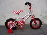 Kids Bike by Disney, Minnie Mouse ', 12 1/2 inch for Kids 3+ Years JUST SERVICED / CHEAP PRICE!!!!!