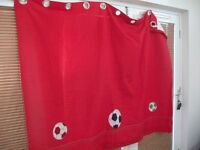 """Red Eyelet Football themed curtains 64"""" x 54"""""""