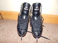 Size 4 Black ice skates.
