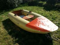 Tinker Tramp inflatable sailing dinghy + Mariner 2hp outboard