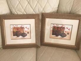 Pair of Framed vase prints