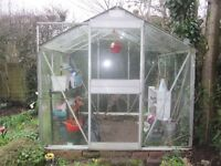 Greenhouse 7ft 6in X 7ft 4in External dimensions Buyer to dismantle and take away.