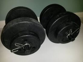 Set Vinyl Gym Weights Fitness Dumbbells