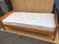 IKEA SINGLE BED WITH MATTRESS FREE DELIVERY IN LIVERPOOL