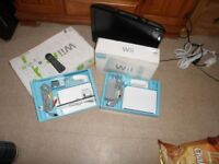 Nintendo Wii console, controller plus fit board and TV UMC 19inch for sale