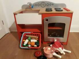 Childs Wooden kitchen set (with hob, oven and sink)