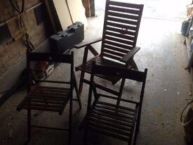 Wooden Garden chair set